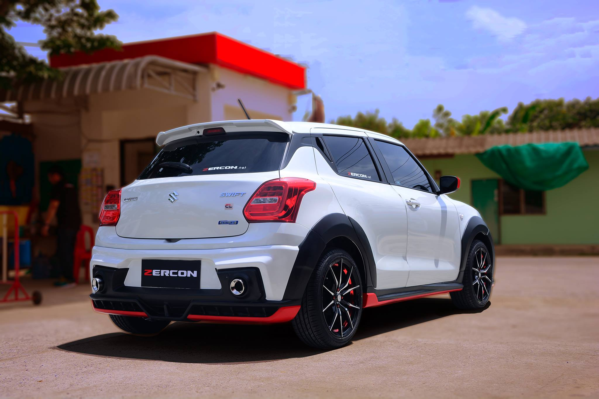 custom 2018 suzuki swift with zercon body kit from thailand. Black Bedroom Furniture Sets. Home Design Ideas