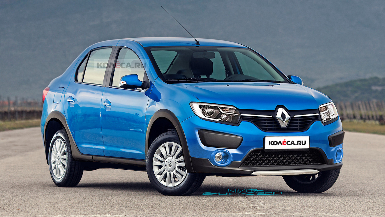 Renault Logan Cross front three quarters rendering