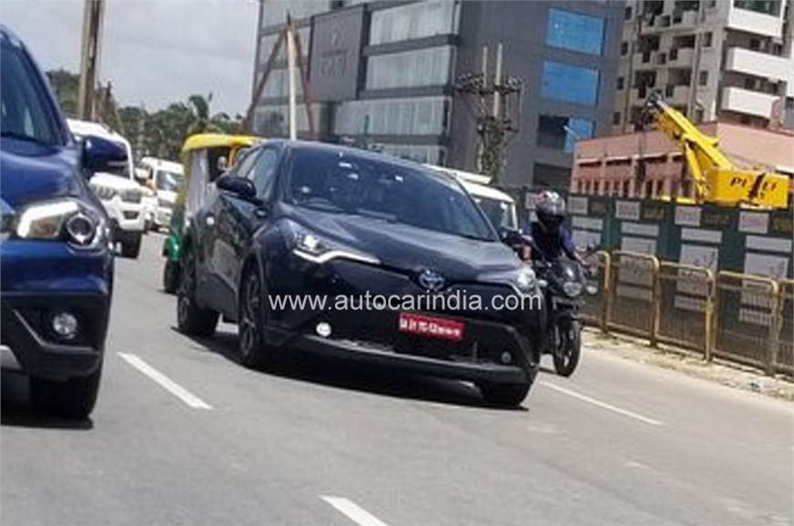 Toyota C-HR India spy shot
