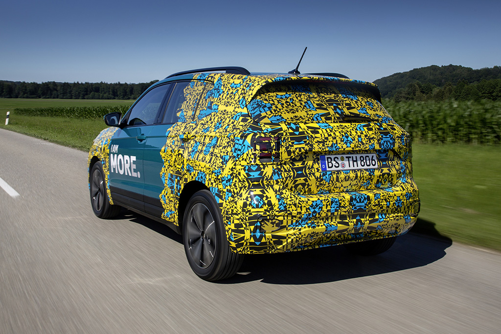 VW T-Cross prototype rear three quarters