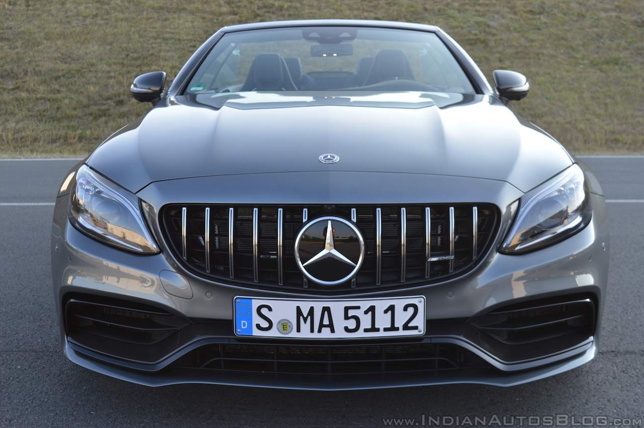 2018 Mercedes-AMG C 63 S Cabriolet (facelift) front (top down)