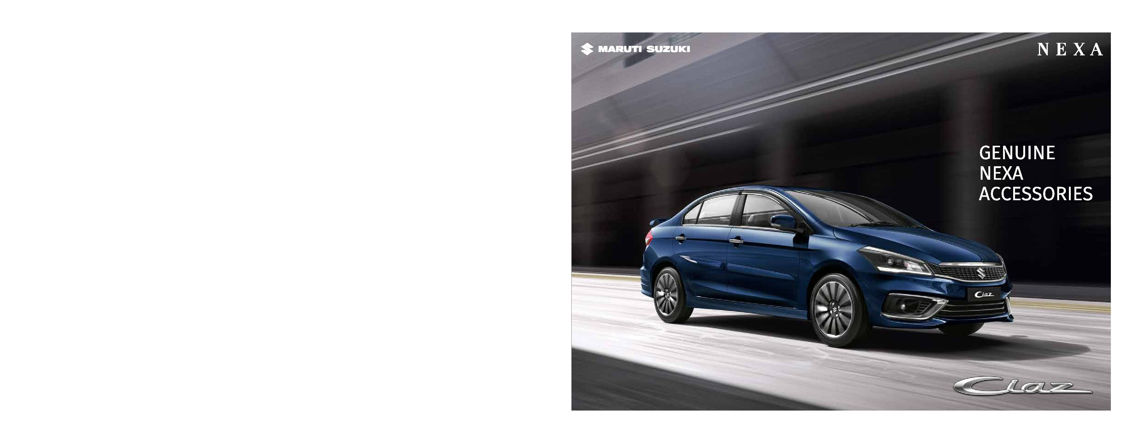 2018 maruti ciaz facelift accessories brochure page 1