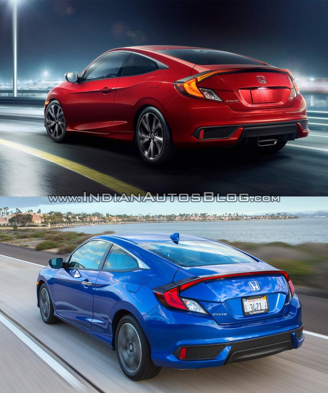 Honda Civic Coupe: 2019 Honda Civic Vs. 2016 Honda Civic