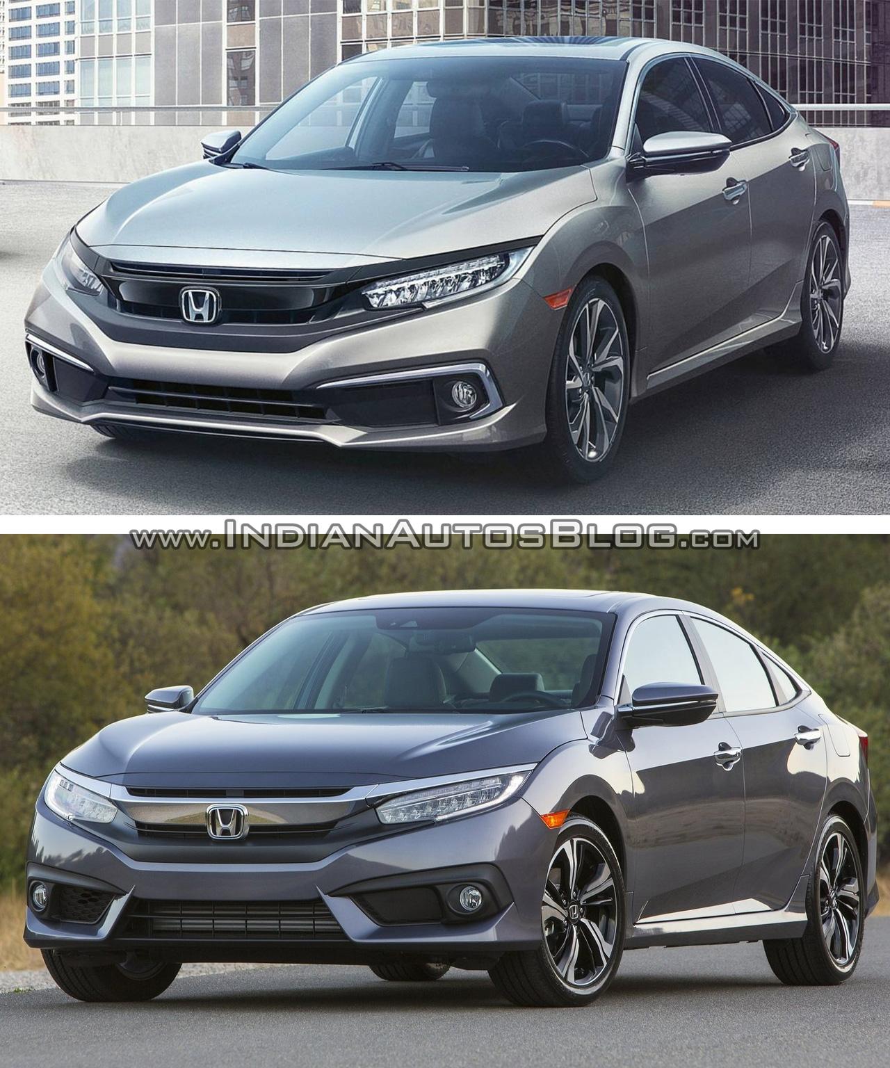 2019 Honda Civic Sedan Front Splitter: 2019 Honda Civic Vs. 2016 Honda Civic