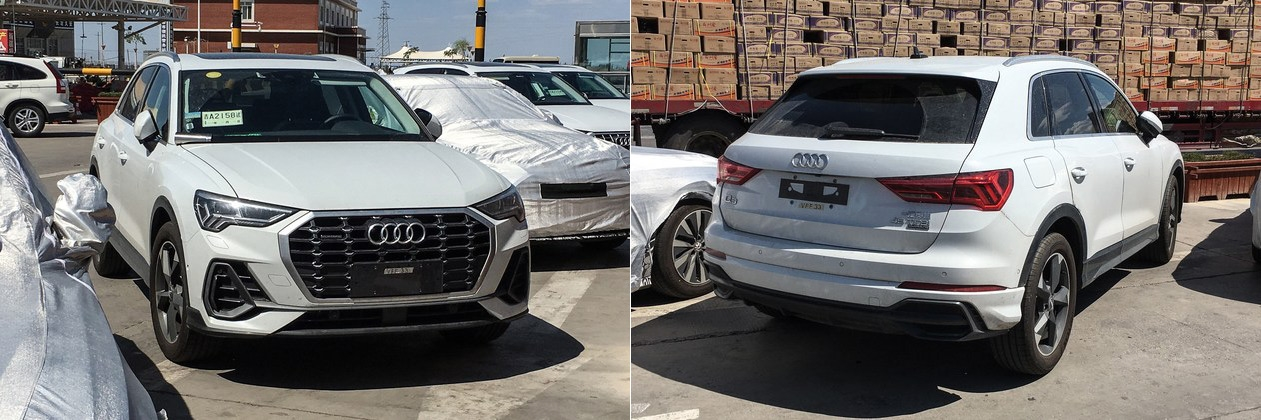 India Bound 2019 Audi Q3 Spotted In Different Colours In China