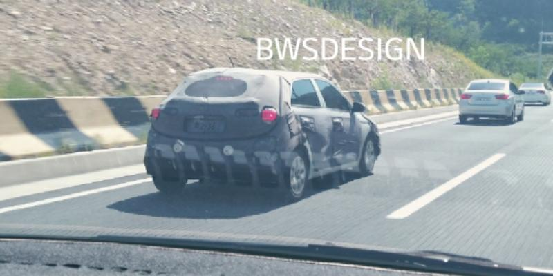 Hyundai i20 rear three quarters spy shot