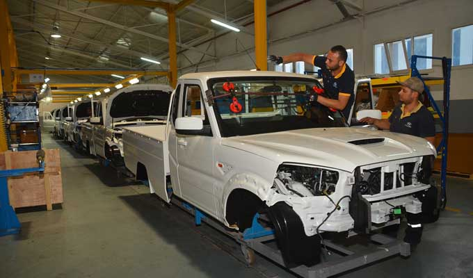 New Mahindra Scorpio Pik-Up Tunisia at plant