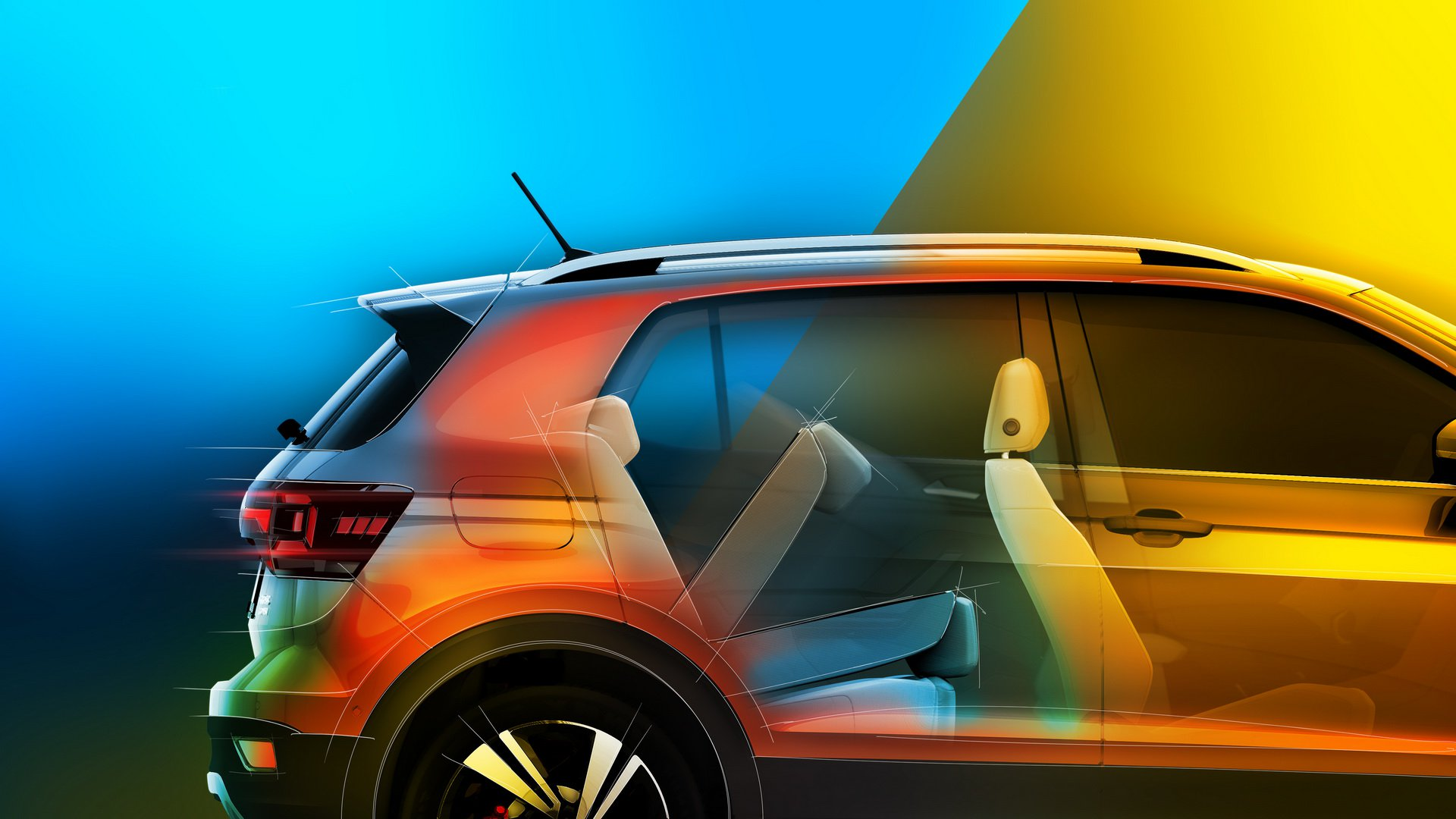 VW T-Cross seats teased