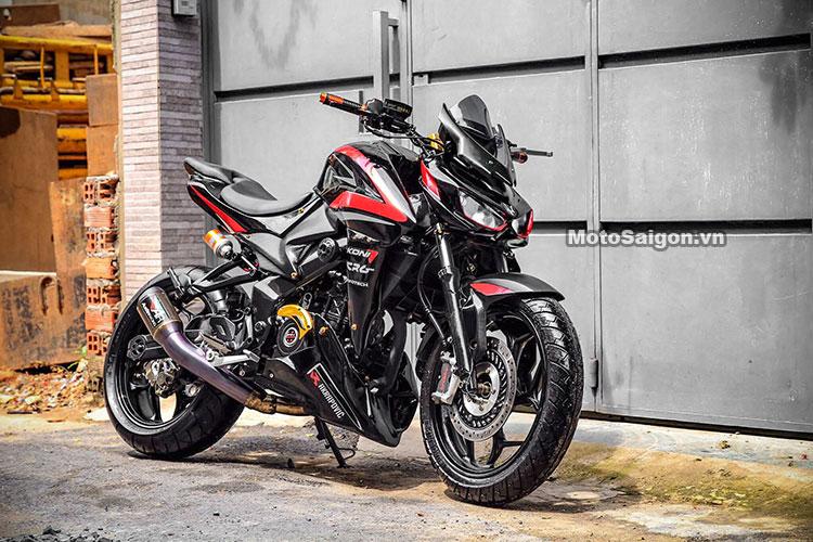Bajaj Pulsar with 350 cc engine modified to look like the