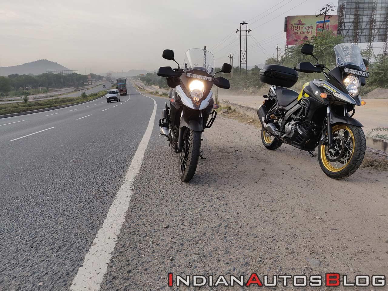 Suzuki V Strom 650 Xt Review Still Shots Yellow An