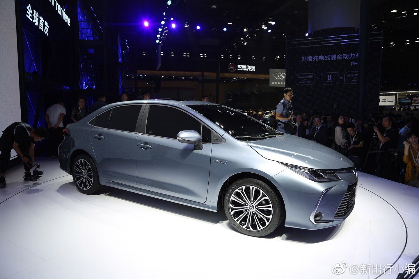 2020 Toyota Corolla Hybrid Sedan Front Three Quart