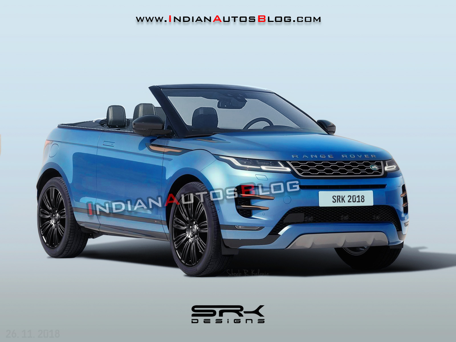New Range Rover >> All New Range Rover Evoque Convertible Iab Rendering