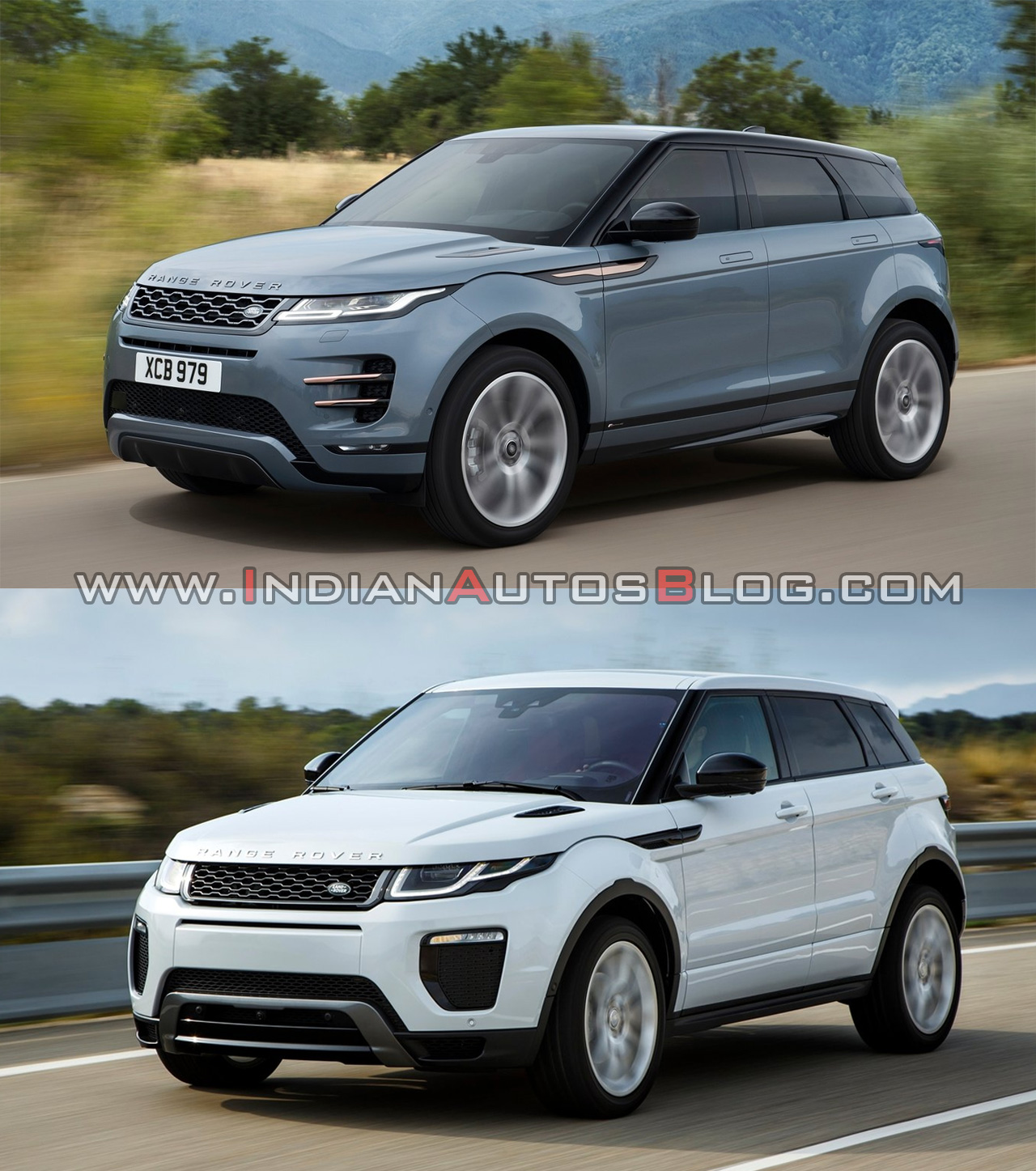 2019 range rover evoque vs 2015 range rover evoque old. Black Bedroom Furniture Sets. Home Design Ideas