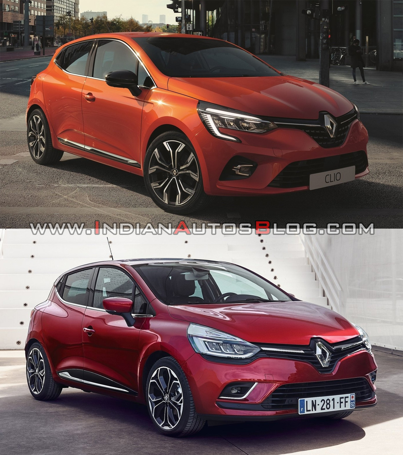 2019 renault clio vs 2016 renault clio old vs new. Black Bedroom Furniture Sets. Home Design Ideas