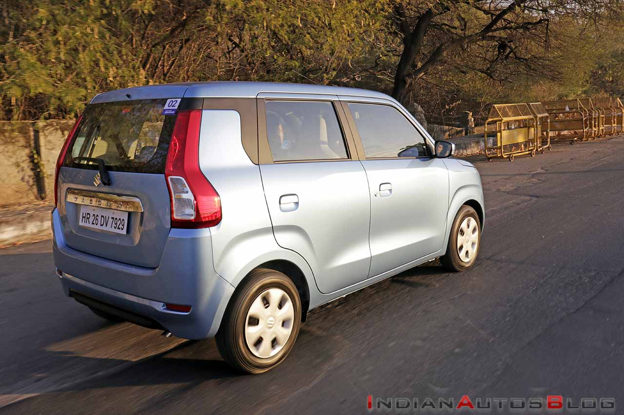 2019 maruti wagon r review images action rear thre