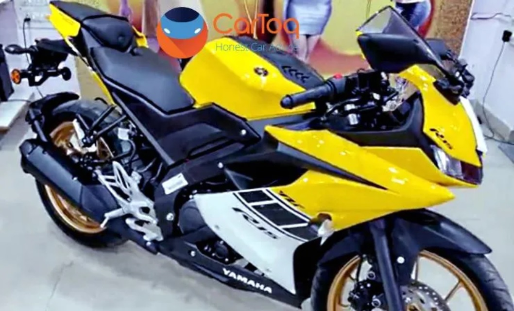 Yamaha R15 V3 0 Spied With A New Yellow Colour Scheme