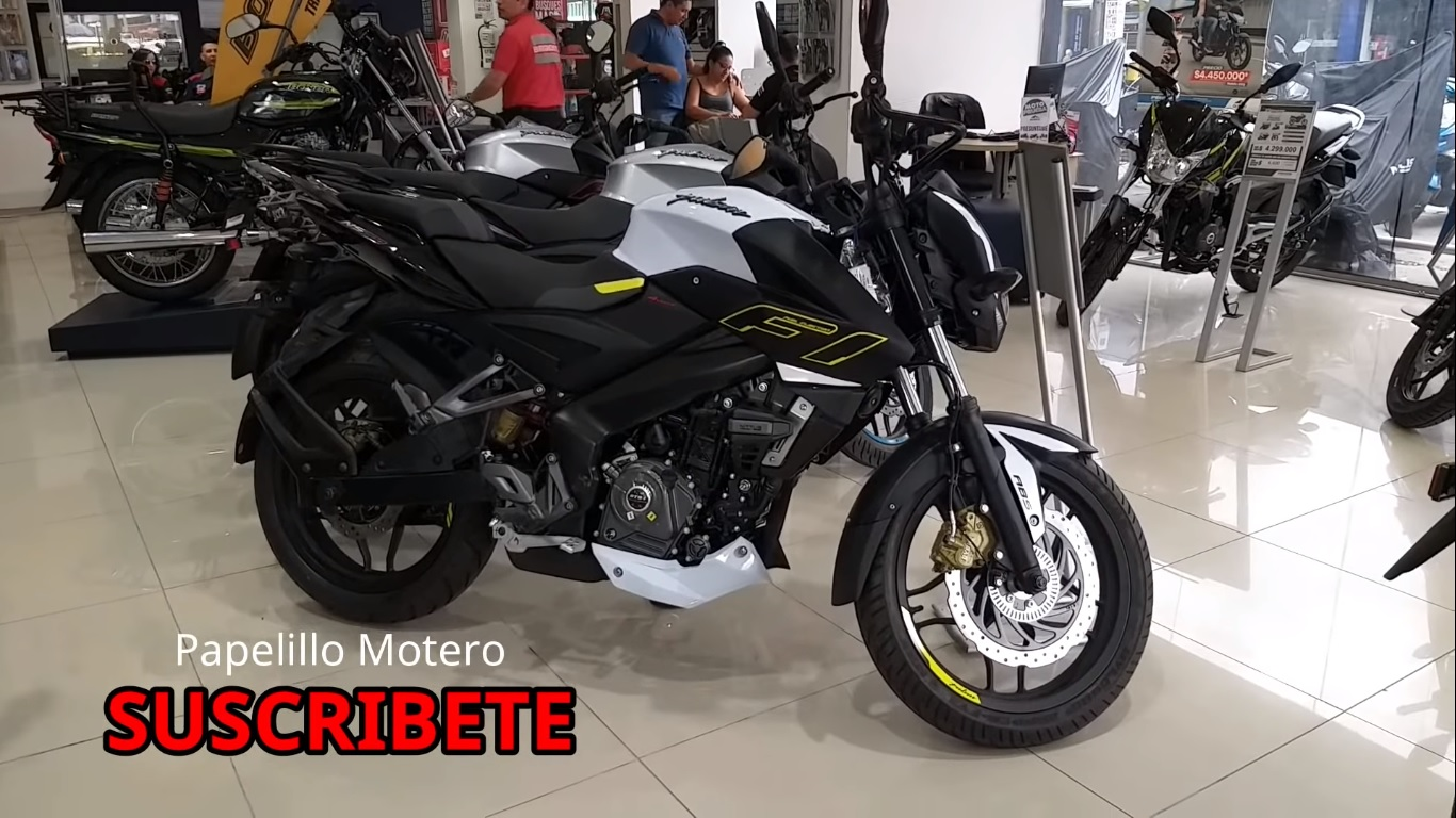 Bajaj pulsar ns200 neon graphics yellow right side