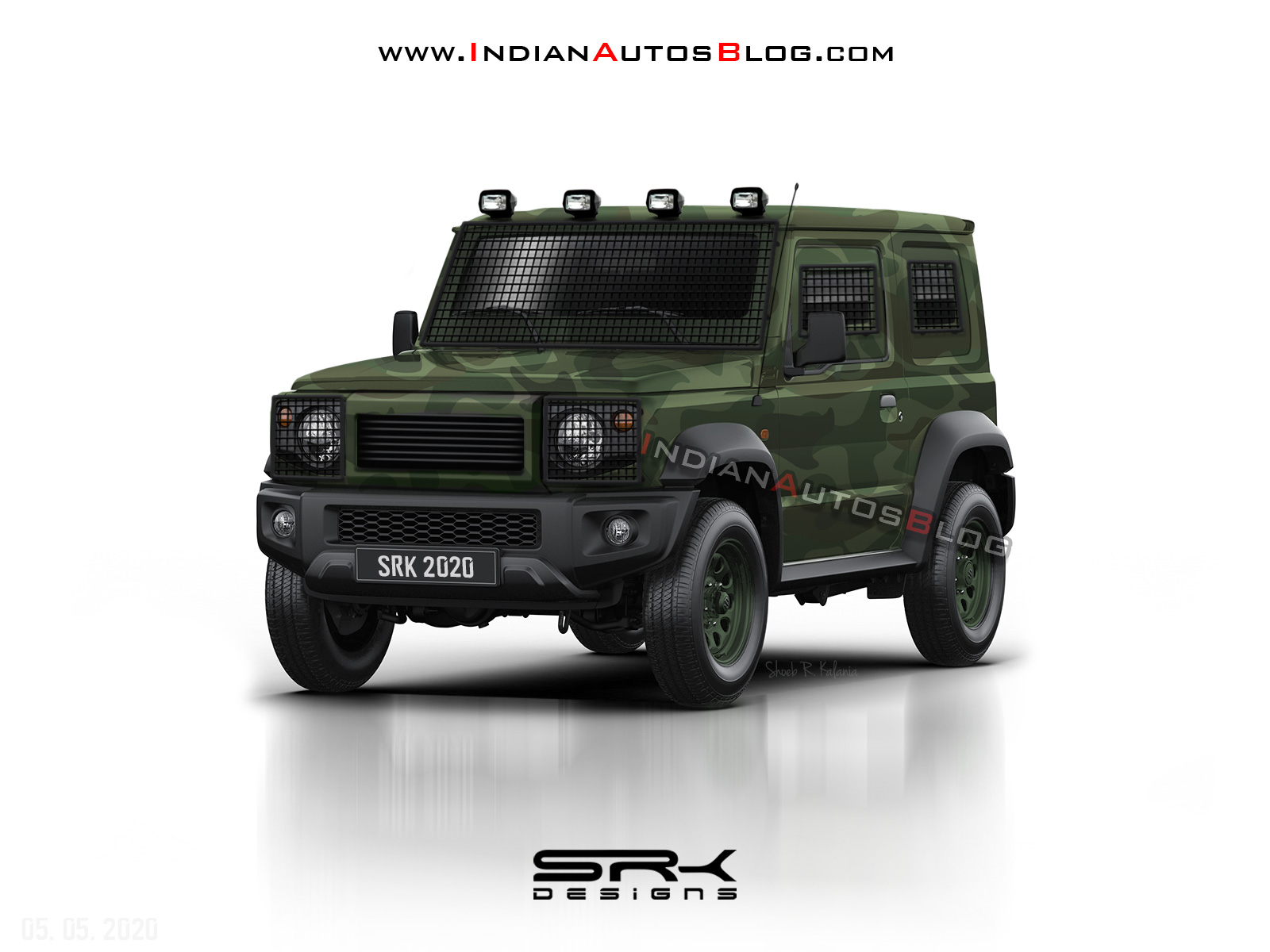 2021 Maruti Gypsy Army Variant Looks Ready To Patrol India S Borders Iab Rendering