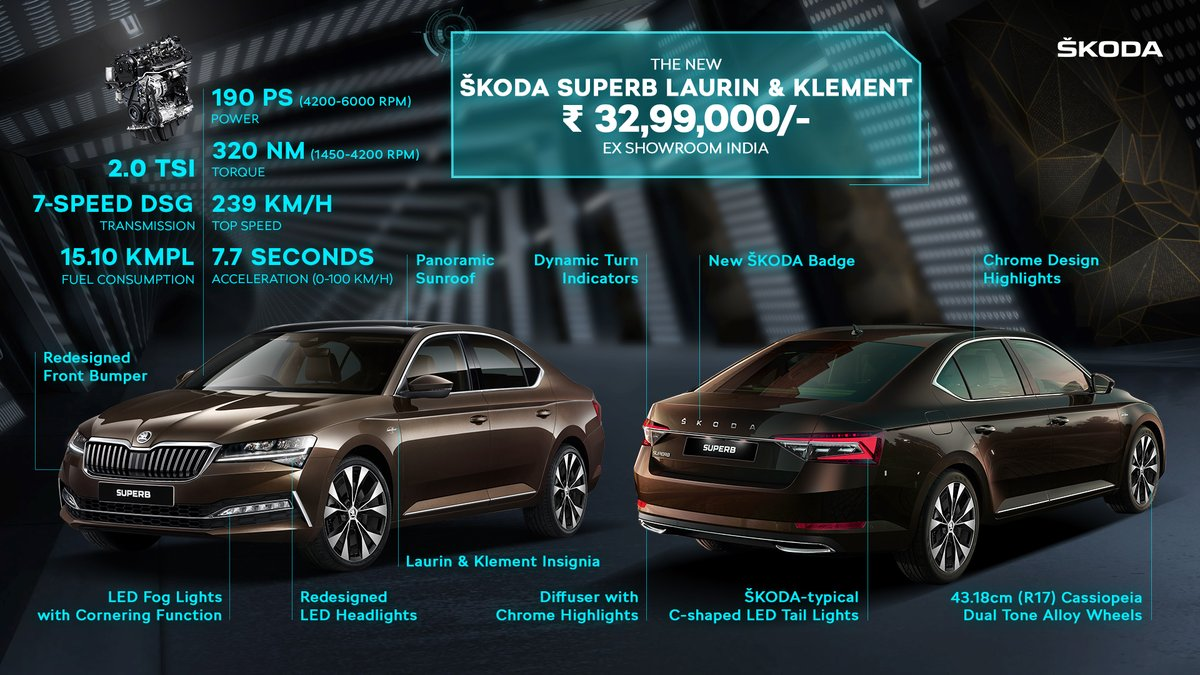 New Skoda Superb Facelift Launched In India Priced From Inr 30 Lakh