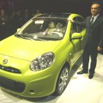 Mr Carlos Ghosn, President & CEO, Nissan Motor Company with the All New Nissan Micra at Geneva Motor Show 2010_a