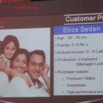 Toyota Etios sedan target customer