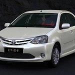 Toyota Etios white sedan