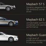 Maybach model portfolio