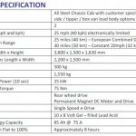 Tata Ace EV Specifications