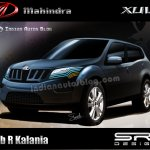 Mahindra XUV250 concept model drawing