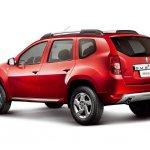 Red Dacia Duster rear