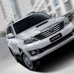 Toyota Fortuner facelift front