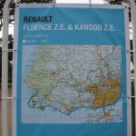Renault Fluence ZE drive route map