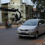 Toyota Innova facelift Goa ad shoot spy shot