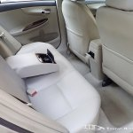 Facelifted Toyota Corolla Altis rear seats