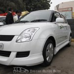 Maruti Swift hybrid front three quarters