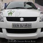 Maruti Swift hybrid front fascia