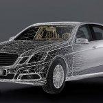 Mercedes E class frame