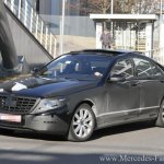 2013 Mercedes Benz S-Class W222 test mule loses camouflage