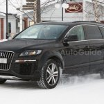2014 Audi Q7 test mule wearing the current model body