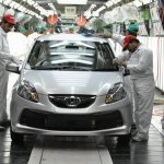 Honda Brio rolling out of the Greater Noida Plant