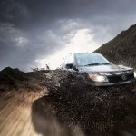 Tata Safari Storme plays with mud