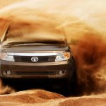 Tata Safari Storme in the desert, bashing dunes
