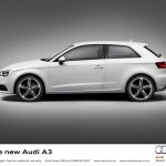 2013 Audi A3 at Geneva Motor Show 2012 side view