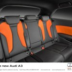 2013 Audi A3 at Geneva Motor Show 2012 rear seats