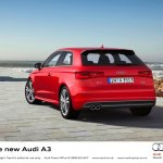 2013 Audi A3 at Geneva Motor Show 2012 rear three quarters