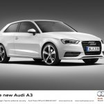 2013 Audi A3 at Geneva Motor Show 2012 white
