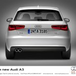 2013 Audi A3 at Geneva Motor Show 2012 rear fascia