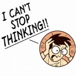 Cant Stop Thinking cartoon