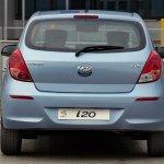 Hyundai i20 facelift rear angle