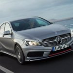 Mercedes Benz A-Class leaked front three quarters